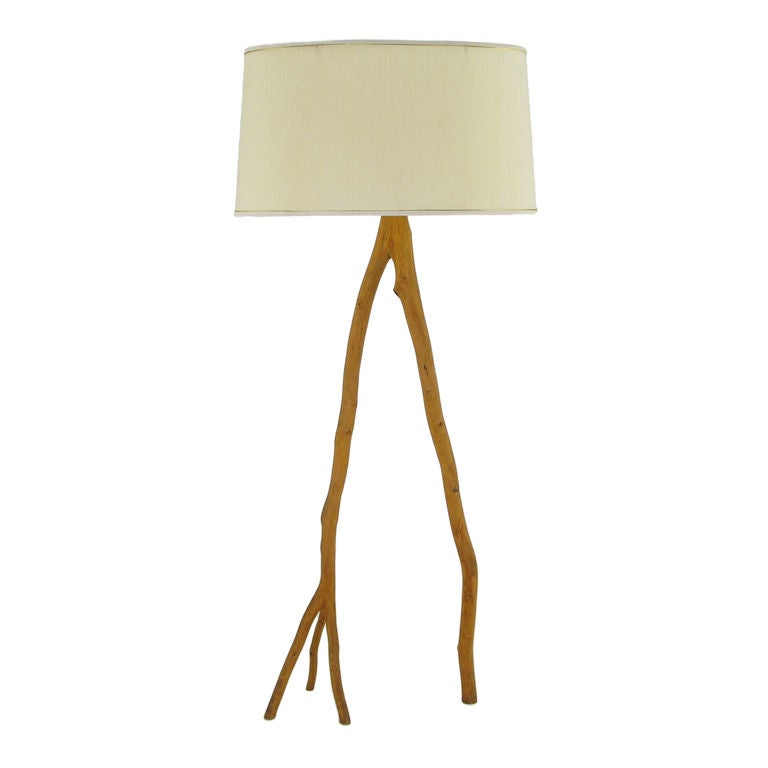 Adirondack style wood floor lamp at 1stdibs - Artistic d lamp shade designed with modern and elegant shape style ...