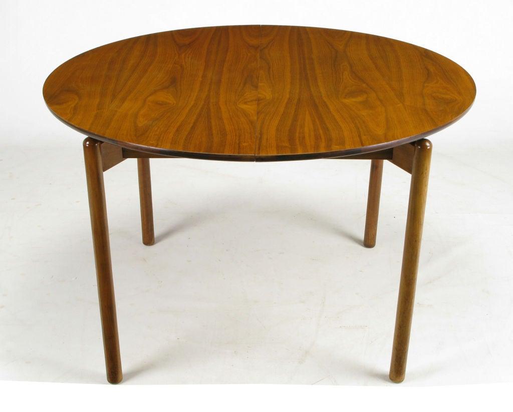 round walnut dining table. Greta Grossman Round Walnut Dining Table With Canted Dowel Form Legs And A Recessed Square Apron