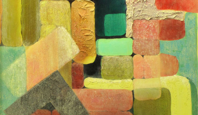 Abstract Relief Cubist Inspired Mixed Media on Canvas In Excellent Condition For Sale In Chicago, IL