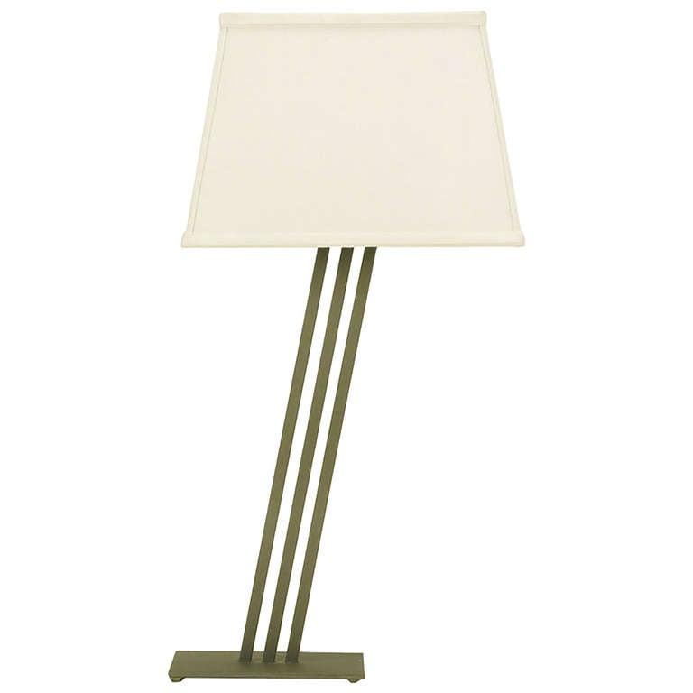 Postmodern Memphis-Style Angled Metal Table Lamp