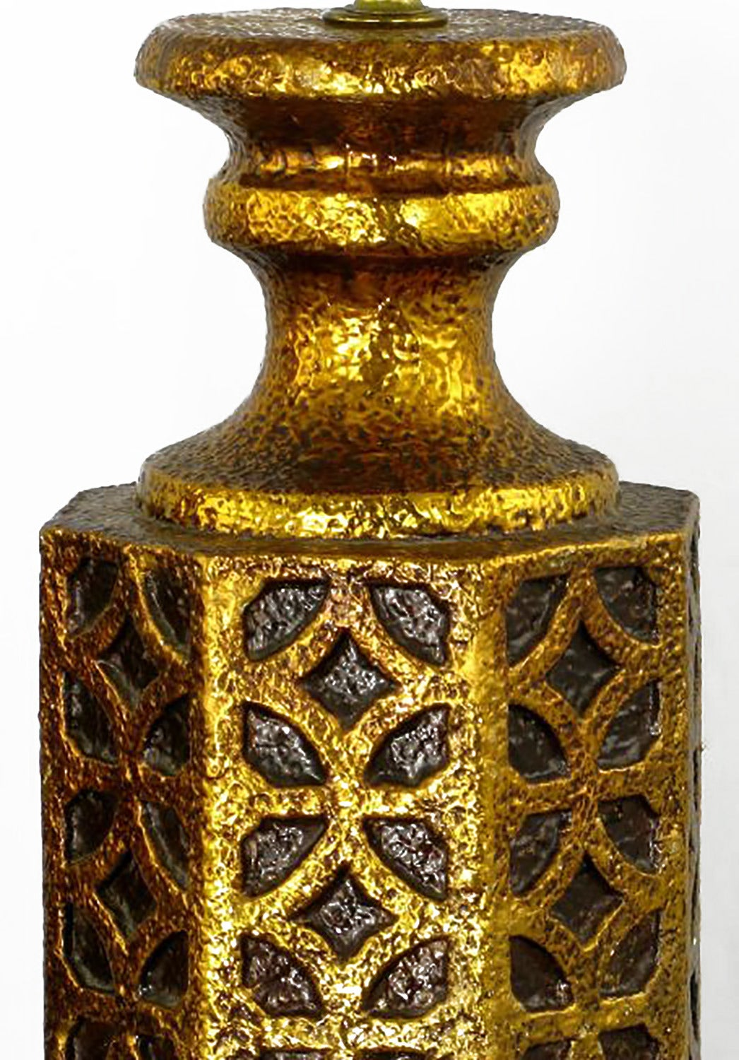 pair of moroccan style gilt arabesques table lamps for. Black Bedroom Furniture Sets. Home Design Ideas