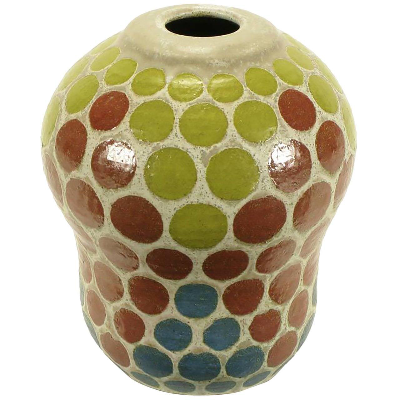 1967 tomiya matsuda red blue and yellow circles studio pottery 1967 tomiya matsuda red blue and yellow circles studio pottery vase for sale reviewsmspy