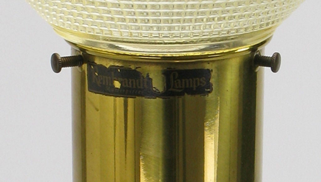 Rembrandt Walnut & Brass Floor Lamp 5
