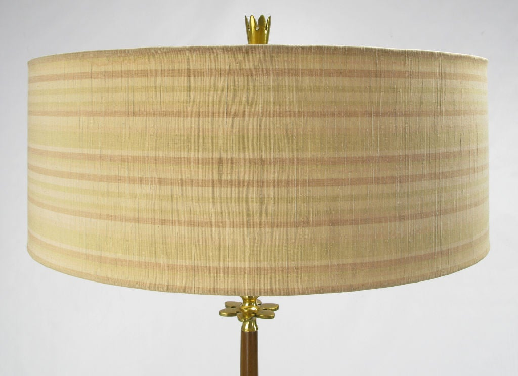 Rembrandt Walnut & Brass Floor Lamp 6