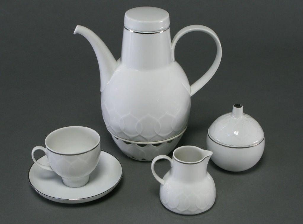 rosenthal wiinblad lotus white platinum service for twelve. Black Bedroom Furniture Sets. Home Design Ideas