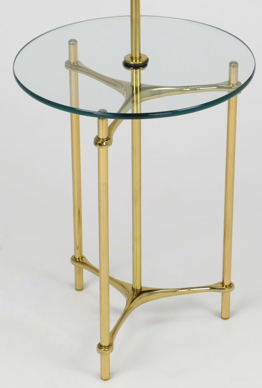 pair laurel lamp brass and glass table top floor lamps at 1stdibs. Black Bedroom Furniture Sets. Home Design Ideas
