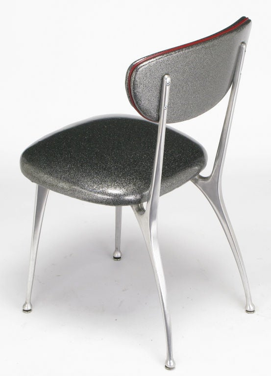 Impala Side Chairs In Aluminum And Silver Metalflake