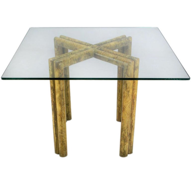 Phyllis Morris Saltire Base Dining Table In Oil-Drop Lacquer
