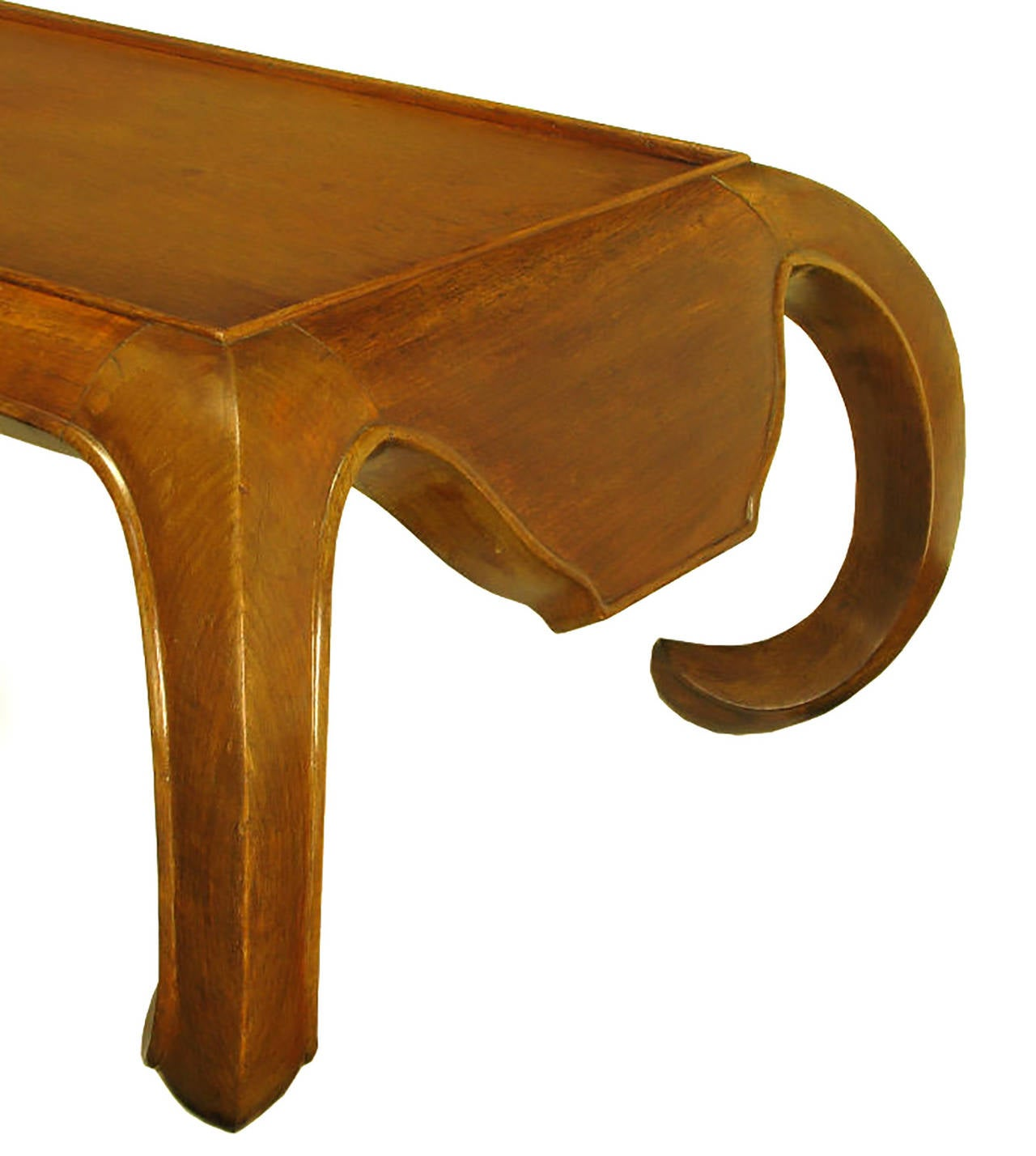 Hand-Carved Chinese Mahogany Chow Coffee Table For Sale 3