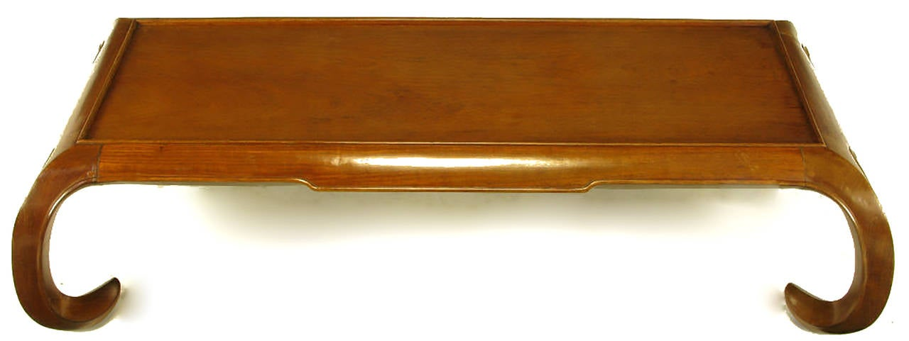 Hand-Carved Chinese Mahogany Chow Coffee Table For Sale 1