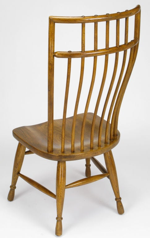 ten stylized high back windsor dining chairs by hibriten at 1stdibs
