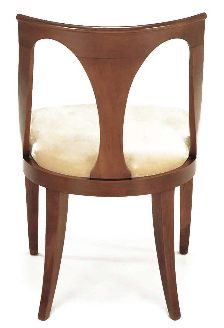 Four Kindel Walnut Regency Spoonback Dining Chairs For Sale 1