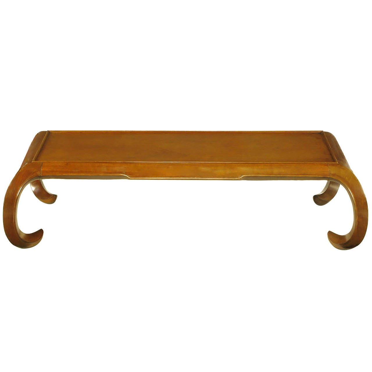 Hand-Carved Chinese Mahogany Chow Coffee Table