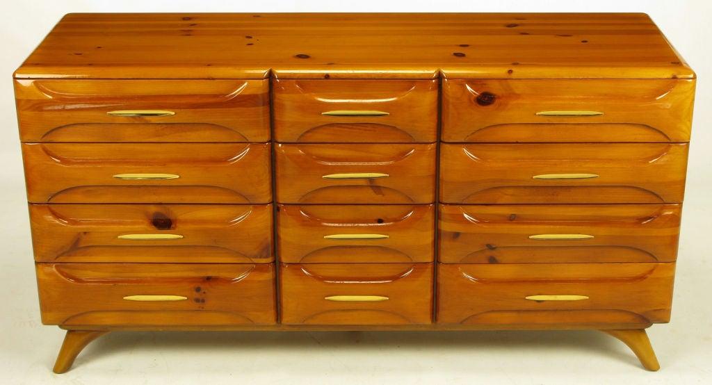 franklin shockey twelve drawer rustic modern pine dresser at 1stdibs
