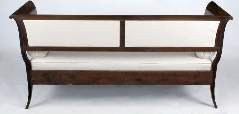 Elegant Biedermeier Hand Carved And Lacquered Walnut