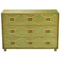 Dorothy Draper Viennese Commode with Original Lacquer Finish