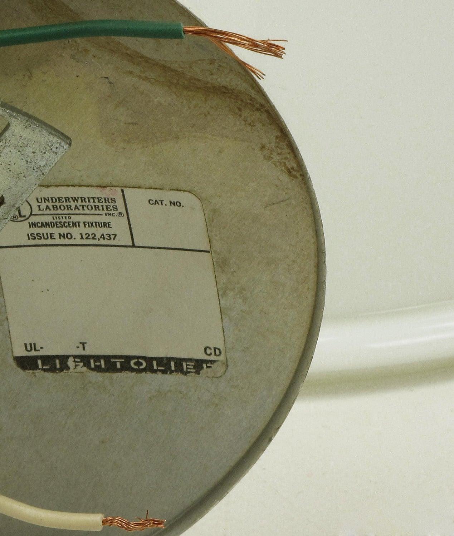 Lightolier White Cased Glass Bell Form Pendant Light by Glashütte Limburg For Sale 4