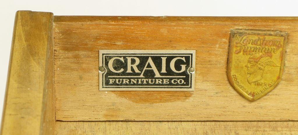 Landstrom Furniture Bleached & Limed Mahogany Six Drawer Desk For Sale 6