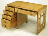 Landstrom Furniture Bleached & Limed Mahogany Six Drawer Desk image 2