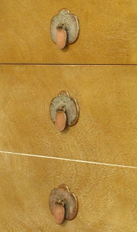 Landstrom Furniture Bleached & Limed Mahogany Six Drawer Desk For Sale 3