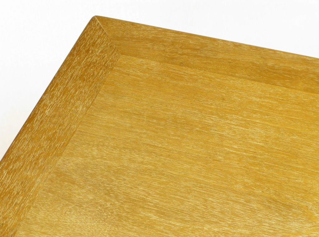 Landstrom Furniture Bleached & Limed Mahogany Six Drawer Desk For Sale 5