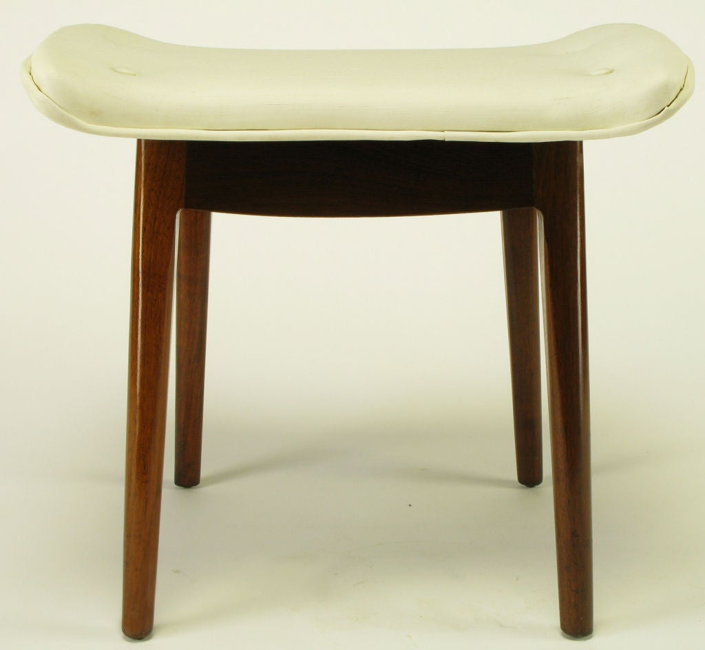 #653B17 Walnut And Button Tufted Bone Upholstery Vanity Stool At 1stdibs with 1024x944 px of Brand New Tall Vanity Stools 9441024 pic @ avoidforclosure.info