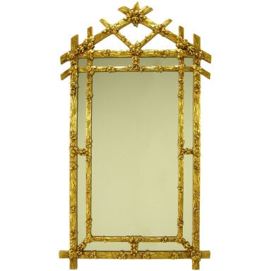 Gilt black forest style mirror with segmented frame at 1stdibs for Mirror frame styles