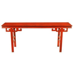 Chinoiserie Altar Table In Cinnabar Lacquer