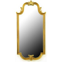 Gilt Composite Wood & Gesso Empire  Style Wall Mirror