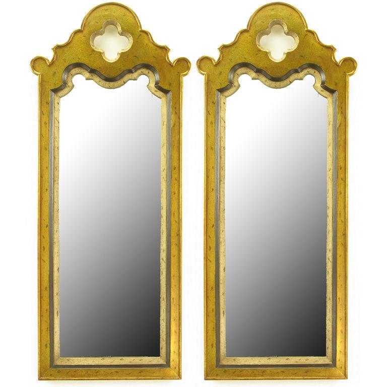 Pair Gilt Moroccan Style Wall Mirrors At 1stdibs