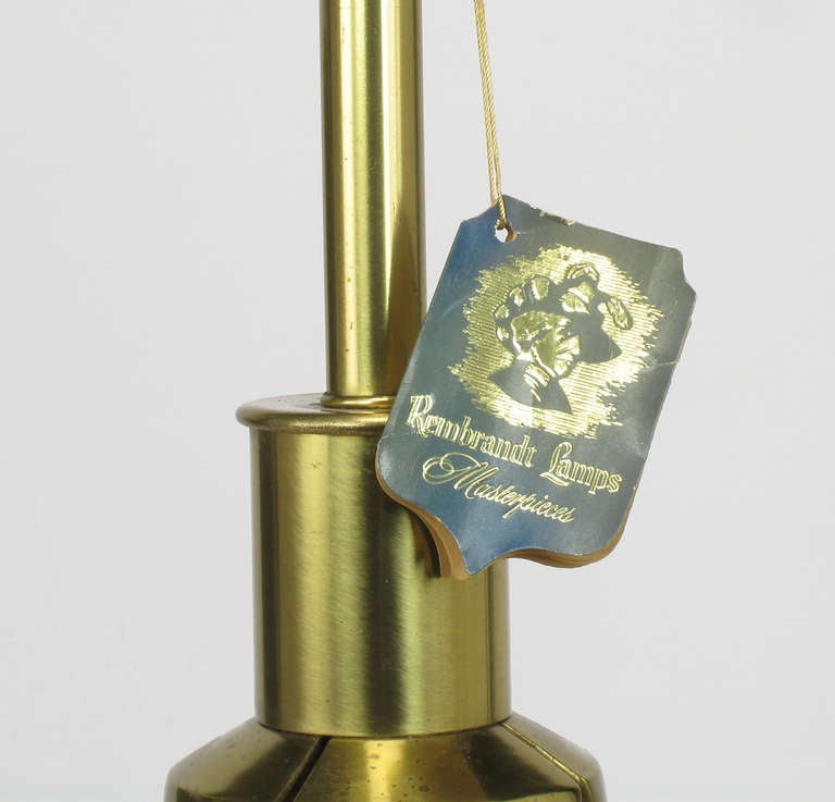 Rembrandt Brass and Azure Blue Table Lamp 7