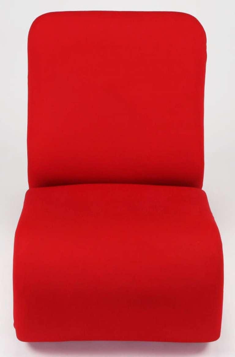 Swedish Modern Red Wool Ribbon Chair 6
