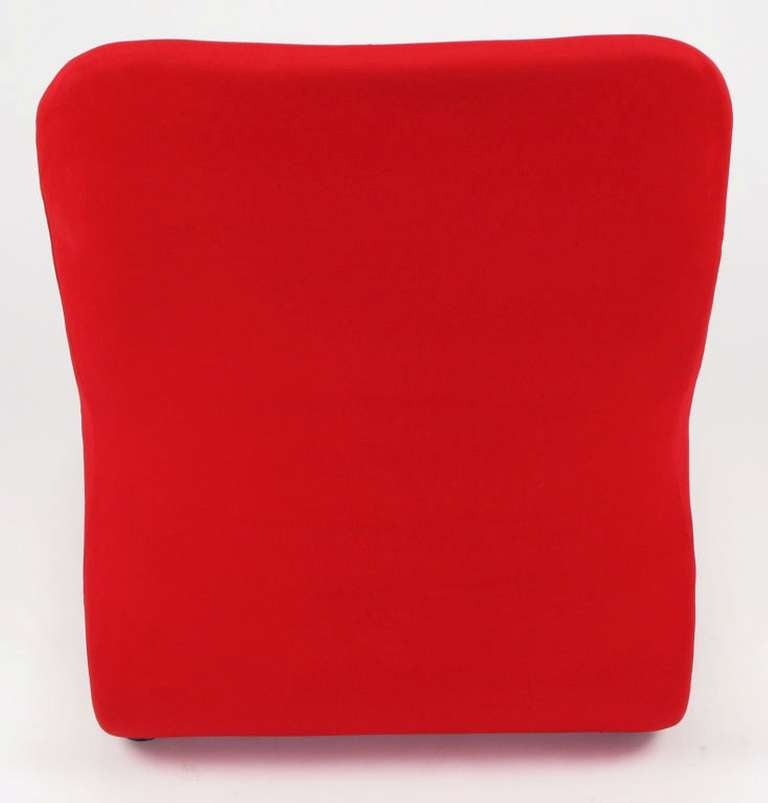 Swedish Modern Red Wool Ribbon Chair For Sale 4