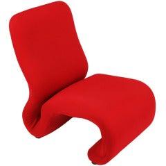 Swedish Modern Red Wool Ribbon Chair