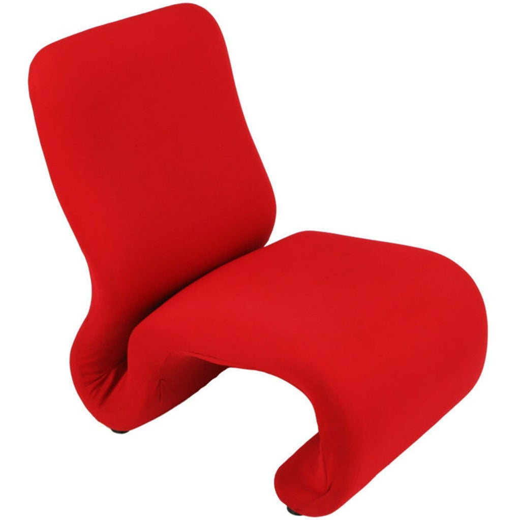 Swedish Modern Red Wool Ribbon Chair For Sale
