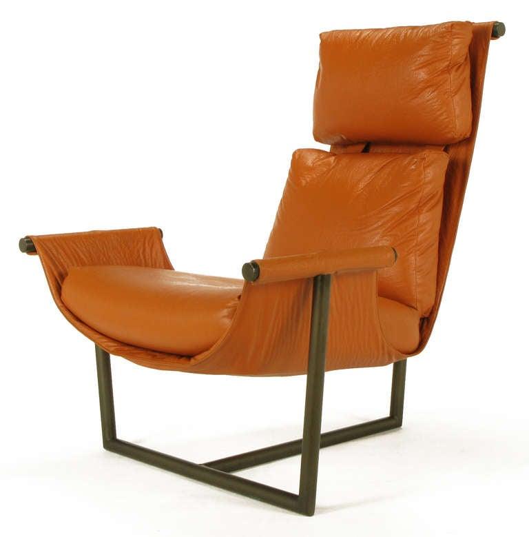 Steel T Based Sling Chair By Jules Heumann For Metropolitan Furniture At 1stdibs