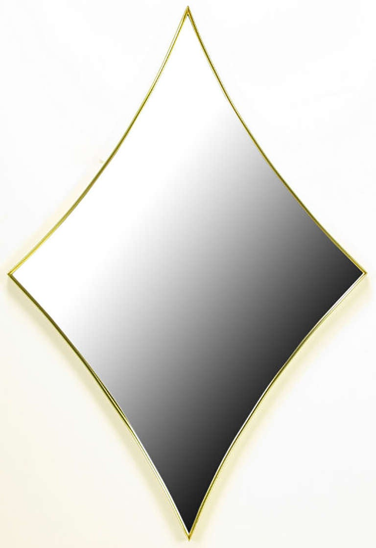 Brass Rhombic Arc Framed Mirror 2