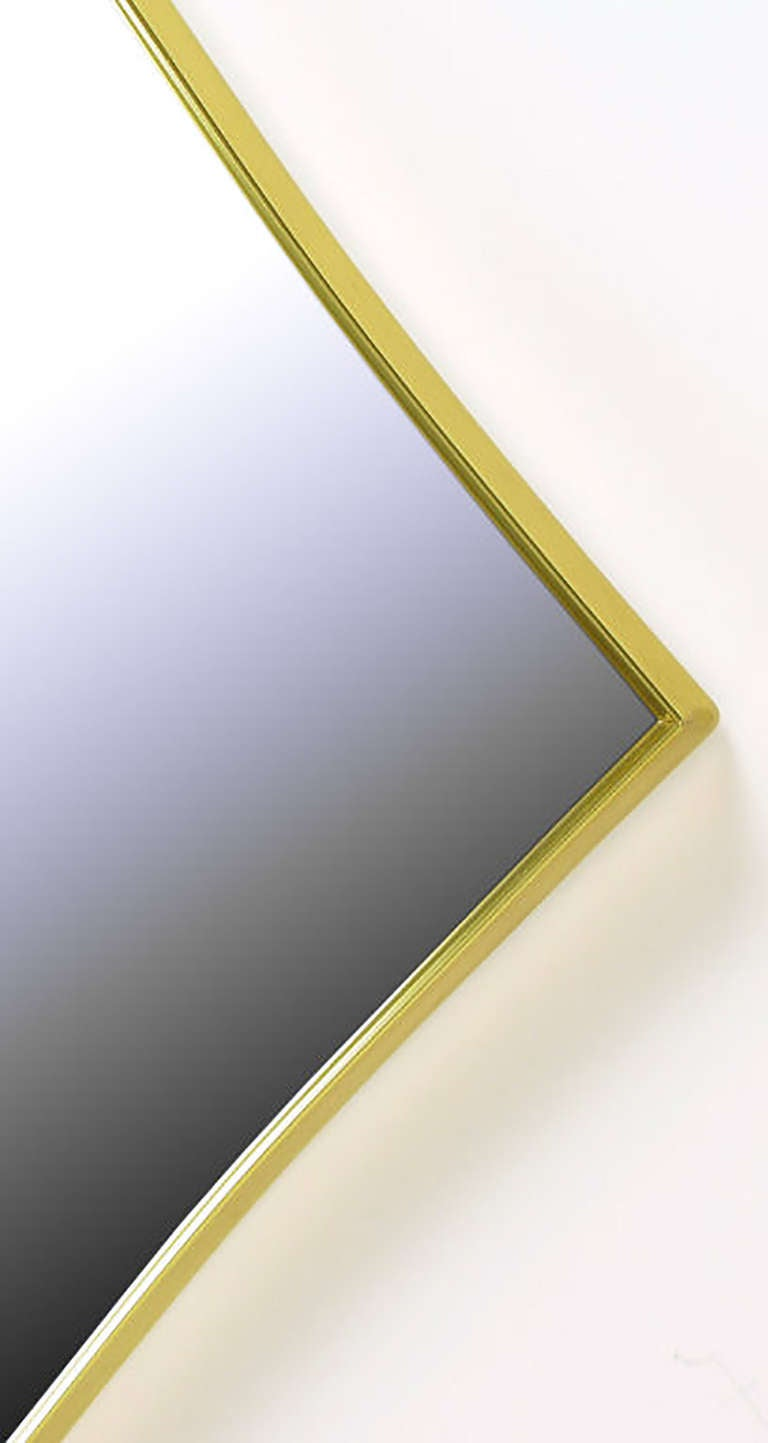 Brass Rhombic Arc Framed Mirror 4