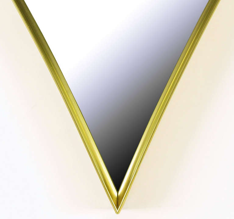 Brass Rhombic Arc Framed Mirror 5