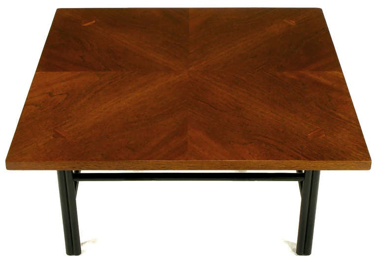 Baker Far East Square Mahogany Coffee Table In Excellent Condition For Sale In Chicago, IL