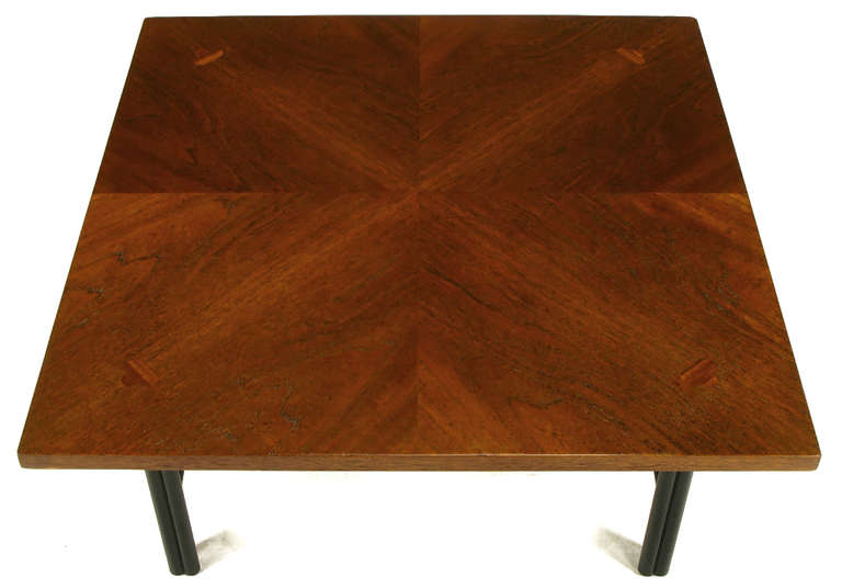 Mid-20th Century Baker Far East Square Mahogany Coffee Table For Sale