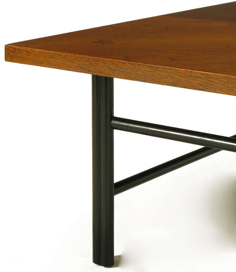 Baker Far East Square Mahogany Coffee Table For Sale 1