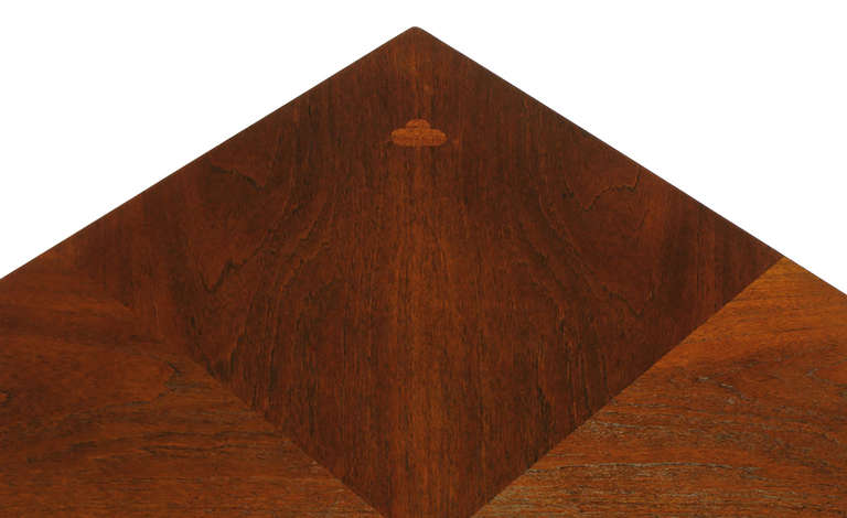 Baker Far East Square Mahogany Coffee Table For Sale 3