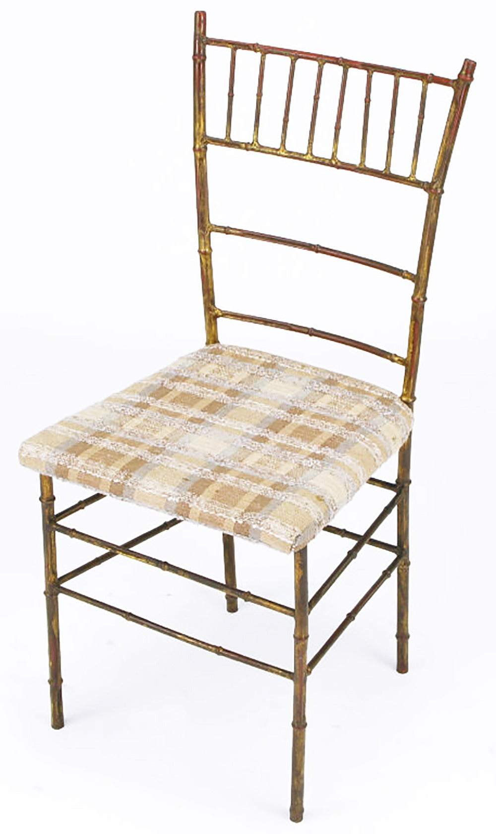 Four Aged Gilt Metal Bamboo Chiavari Style Chairs For Sale At 1stdibs
