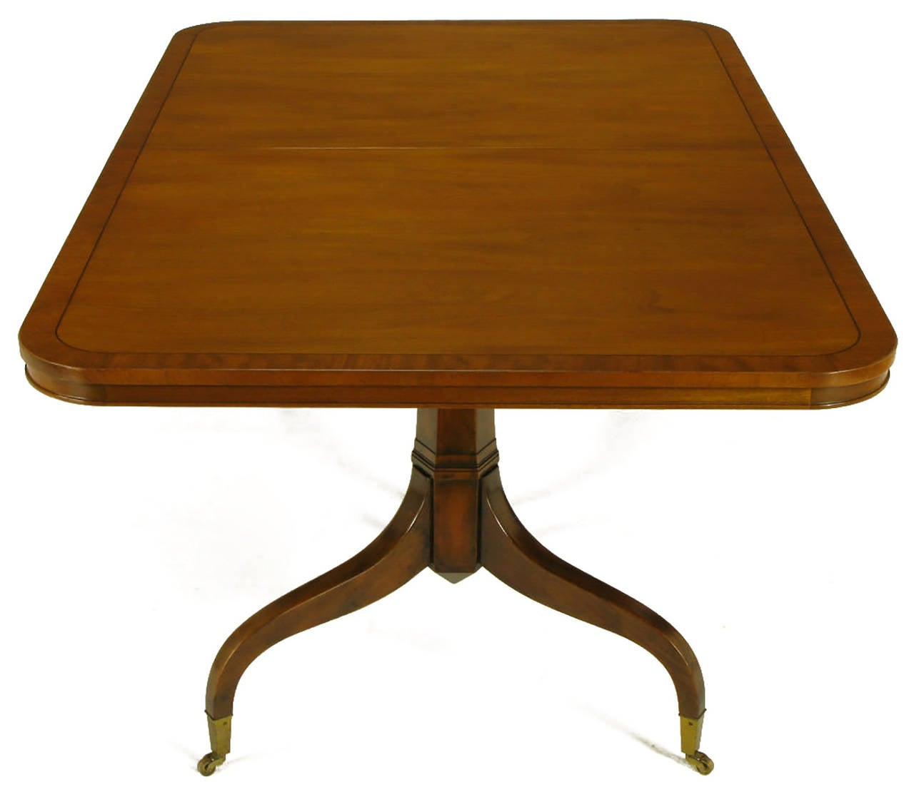 Kittinger mahogany dining table with unusual double for Unusual dining tables for sale
