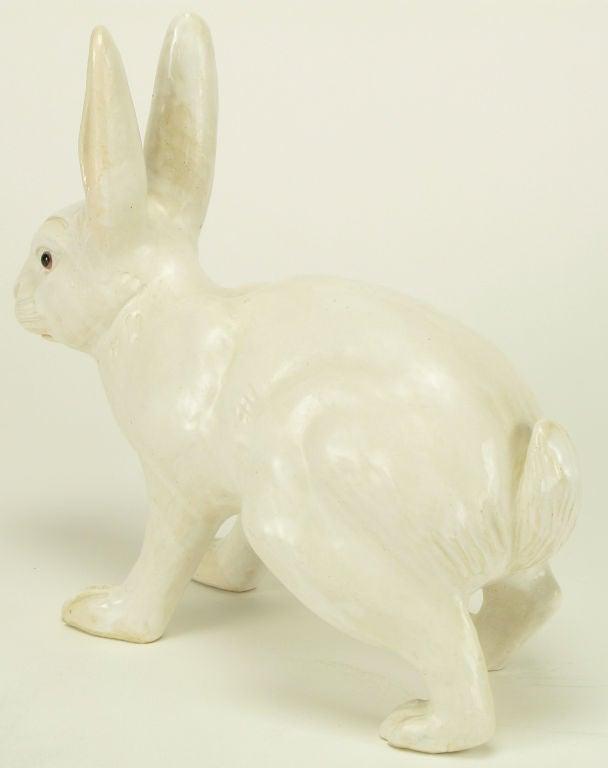 Life-Like Italian Majolica White Rabbit 1