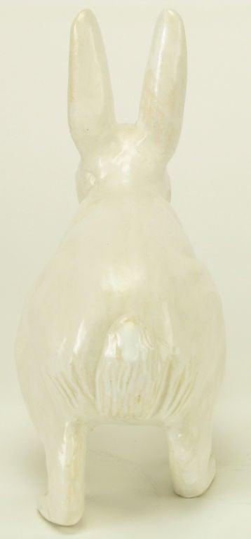 Life-Like Italian Majolica White Rabbit 2