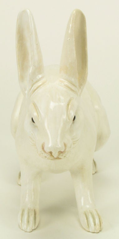 Life-Like Italian Majolica White Rabbit 4