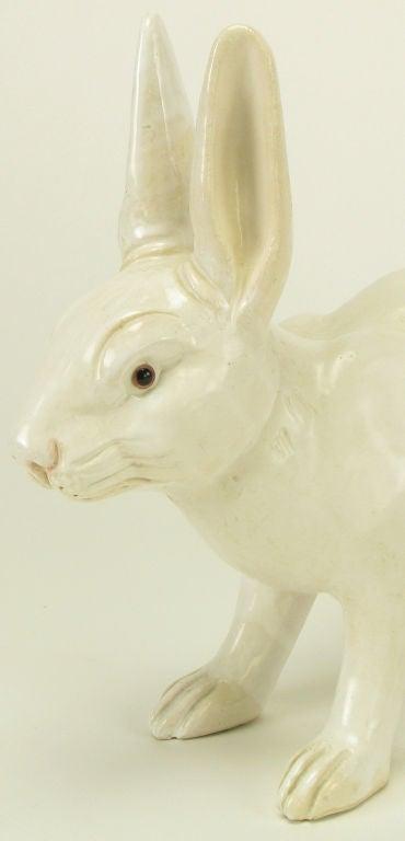 Life-Like Italian Majolica White Rabbit 5
