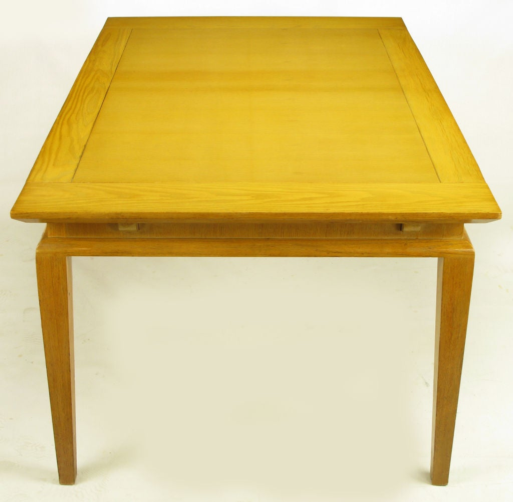 1950s Modern Oak Recessed Apron DIning Table At 1stdibs